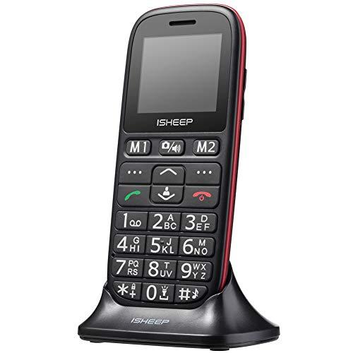 Teléfono móvil con Personas Mayores, Teclas Grandes, Ishee
