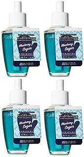 Bath and Body Works Blueberry Sugar Wallflowers Fragrances Refill. 0.8 Oz. 4 Set.