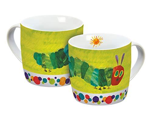 Raupe Nimmersatt 12519 grün Tasse, Porzellantasse, Kaffeetasse, Porzellan