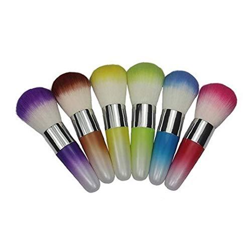 1 Pc Nail DEPOUSSIERANT poudre Cleaner brosse pour acrylique et maquillage fard à joues en poudre Brosses couleur aléatoire