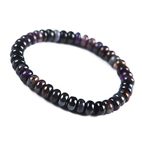 8mm Natural Purple Sugilite Gemstone South Africa Abacus Beads Women Bracelet AAAA