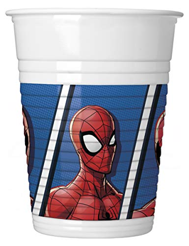 Set van 8 Spiderman bekers