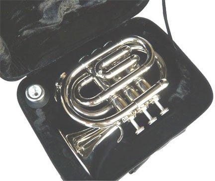 New Nickel Pocket Trumpet w/case-Approved+Warranty