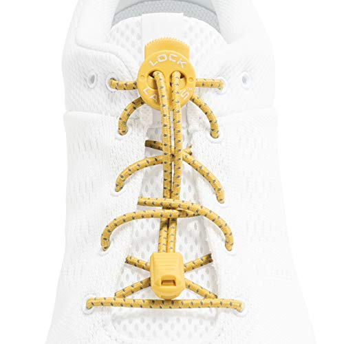 Lock Laces Reflective (Elastic No Tie Shoelaces) (Yellowstone)
