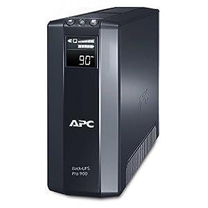 APC Back UPS PRO - BR900GI - USV 900 VA Leistung (Stromsparfunktion, IEC - Kaltgeräte Ausgänge, Multifunktionsdisplay, inkl. 150.000 Euro Geräteschutzversicherung)