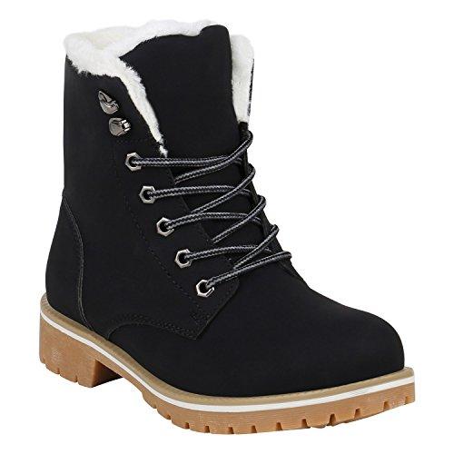 Worker Boots Warm Gefütterte Damen Herren Stiefeletten Stiefel Zipper Kunstfell Outdoor Schuhe...