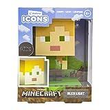 Paladone Minecraft Alex Icon-Licht BDP Mini-Nachtlampe lustig Pixelated Super Bright Sammlerstück,...