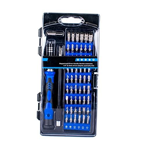 Baoblaze Juego de Destornilladores de precisión de 58 Piezas en 1, Juego de Puntas de Destornillador Multiusos para teléfono