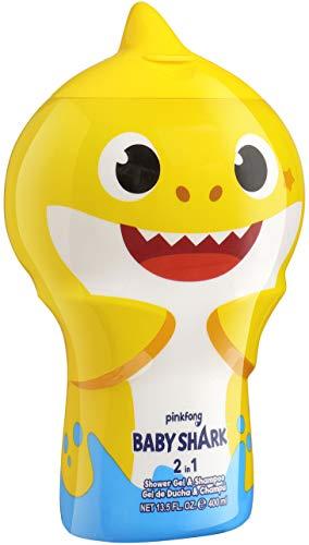 Baby Shark 2in1 Duschgel & Shampoo - 3D Figur mit tollem Duft für Kinder und Erwachsene, 400 ml