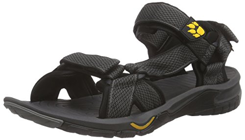 Jack Wolfskin Herren Lakewood Ride M Sport- & Outdoor Sandalen, Grau (Burly Yellow 3800), 39.5 EU