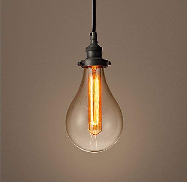 Ceiling LAMP Home Keramischer Kronleuchter-Farbstangenleuchter der Persnlichkeit amerikanischer Retro- Lampe Glasblasenkronleuchter LED Restaurant kreativer (Größe   1head)