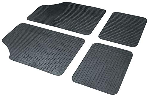 Walser 14833 Gummimatte Fussmatte aus Gummi Auto Teppich Basic Plus in schwarz
