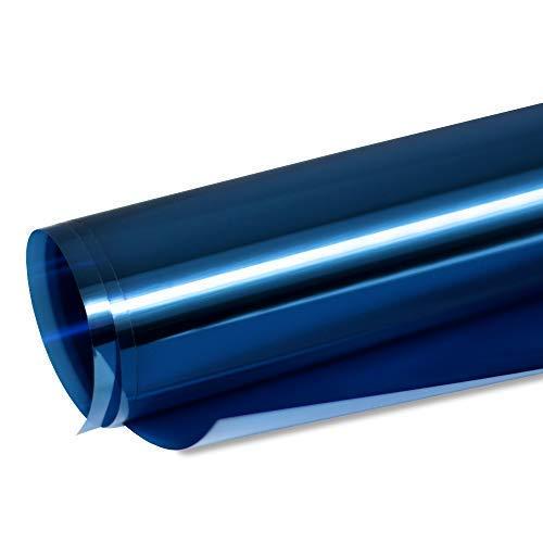 TipTopCarbon 6,57€/m² Fenster Spiegelfolie 100 x 152cm blau Tönungsfolie Sonnenschutz Fensterfolie Spion Folie