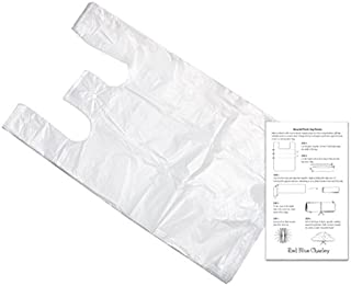 Clear 18x10x30 T-shirt Bags (100 Pack) with Craft Insert - Reusable Retail Shopping Bags