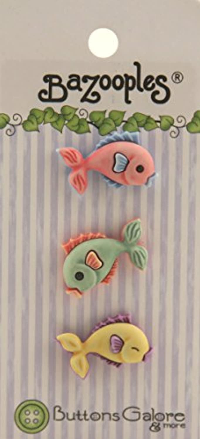 BaZooples Buttons-Multi Fish