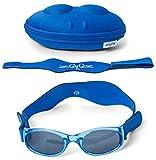 Tuga Baby/Toddler UV 400 Sunglasses w/ 2 Straps & Case, Blue