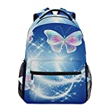 Travel Bag,Butterfly Firework Star College School Book Bag Woman Sports Backpack 40cm(H) x29cm(W)