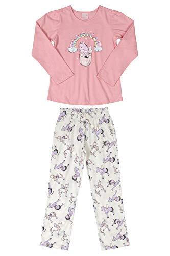 Pijama Blusa e Calça meninas Quimby, Rosa, 12
