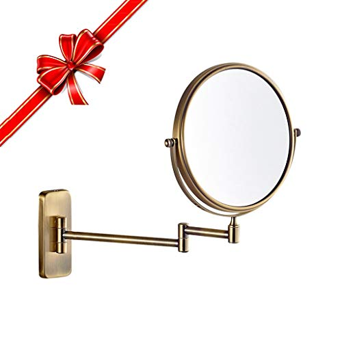 M. Makeup Mirror Wall Mounted Mirror - Best Gift of Ms,6/8 Inch 3X/5X/7X/10X Magnifying Double-Sided Round,360° Rotatable Bathroom Beauty R. (Color : 5X, Size : 6 inch)