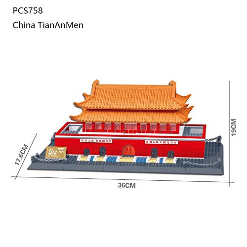 Best Price! World Famous Building:Tiananmen Square,Creative Building Blocks Toys,Stress Reliev...