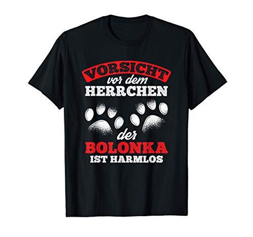 Herren Vorsicht Vor Dem Herrchen Bolonka Harmlos Hunde Bolonka T-Shirt