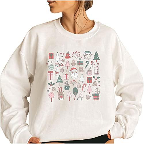 Wave166 Ugly - Sudaderas navideñas de invierno, diseño de renos, 1 blanco., XXXL