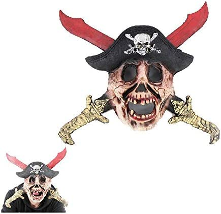 WarFoam Pirate Skull Hat Blood Stained Swords Mask for Cosplay Halloween Masquerade product image