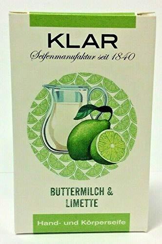 KLAR Seife Buttermilch & Limette 100 g Hand- und Körperseife