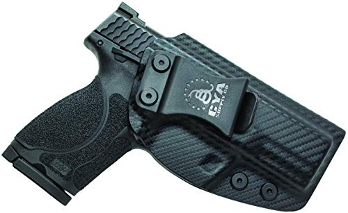 """CYA Supply Co. Fits S&W M&P 9/40 M2.0 Compact 3.5"""" & 3.6"""" Barrel Inside Waistband Holster Concealed Carry IWB Veteran Owned Company (Carbon Fiber, 046- S&W M&P 9/40 M2.0 Compact 3.5"""" & 3.6"""")"""
