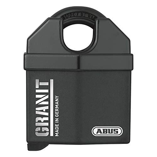ABUS Granit Vorhängeschloss 37/60 aus gehärtetem Spezialstahl - Schlüssel mit LED-Licht - mit ABUS-Plus Scheibenzylinder - 35062 - Level 10 - Schwarz