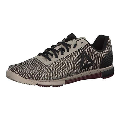 Reebok Speed TR FLEXWEAVE, Zapatillas de Deporte Interior para Hombre, Multicolor (Light Sand/Mineral Dust/Black 000), 43 EU