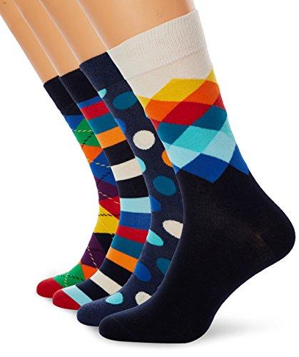 Happy Socks Gemischt farbenfrohe Geschenkbox an Baumwollsocken für Männer und Frauen,Mehrfarbig (Mix Gift Box),41-46
