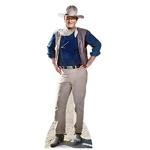 Star Cutouts, John Wayne in Classic Cowboy, Life-Size Cardboard Cutout Standup - 74 x 28 inches