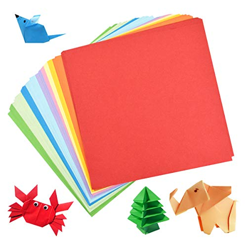 DIY Hand Crafts 6x6 inch Fine Art Paper Folder Included to Help You Store Beautiful Paper in Perfect Shape 120 Sheets of Premium Origami Paper for Kids Creativity Arts