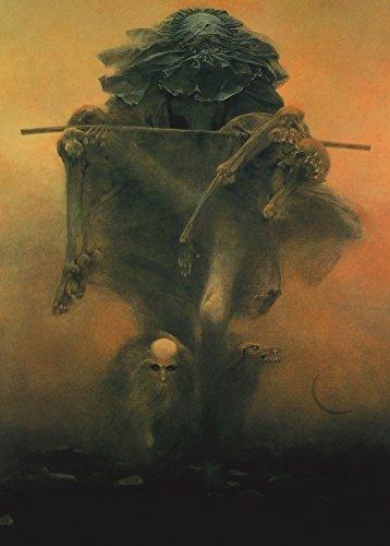 World of Art Zdzislaw Bekinski Futuristisches Poster, surrealistisch Barock Gothic Art 250GSM, glänzend, A3, vervielfältigtes Poster