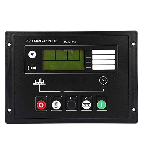KANJJ-YU part Generator Controller Module, DC 8~36V Generator Controller Start Control Panel with LCD Display for Diesel Generator 3D