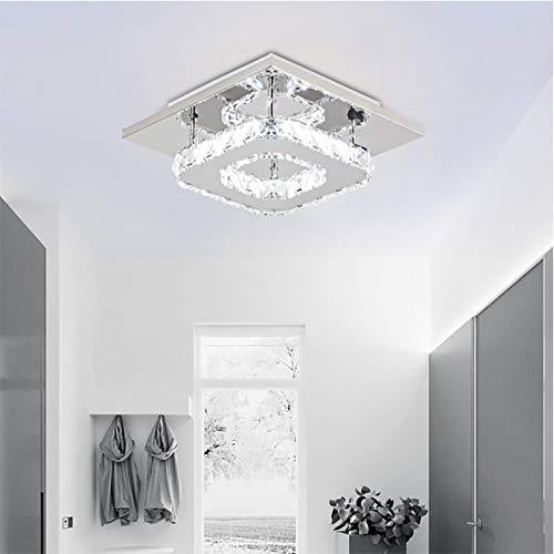 TIEMORE Kristall-deckenleuchte, Led-deckenleuchte, Crystal Flush-deckenleuchte, Deckenganglampe, Moderne Dimmbare Led-kristallleuchte Für Schlafzimmer, Wohnzimmer Und Flur