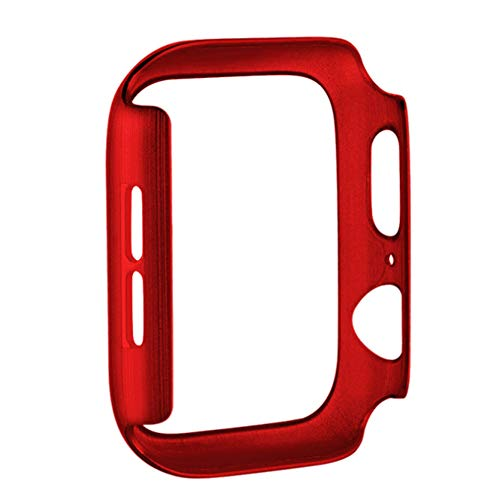 2 Stks,Apple Horloge Screen Protector Serie 1/2/3, PC Ultra-Thin iWatch Case 38/42 mm, Robuuste Scratch-Proof Cover voor Smartwatch, Rood 38 mm