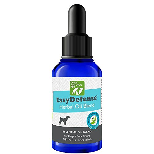 Only Natural Pet EasyDefense Flea & Tick Control for Dogs - Topical Herbal Essential Oil Blend with Natural Lemongrass, Citronella, Lavender, and Cedar - 2 fl oz Bottle