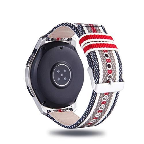 CRFYJ Banda de Nylon para Samsung Gear Sport S2 S3 Galaxy Watch Active 42 / 46mm 20 / 22mm Correa de Cuero para Huami Amazfit BIP Huawei Watch2 GT Reloj Correa