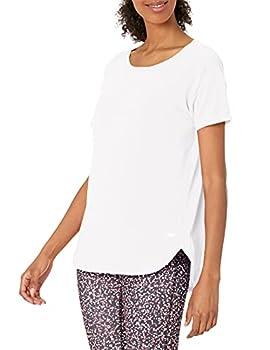 Amazon Essentials Women s Studio Relaxed-Fit Lightweight Crewneck T-Shirt -white Medium