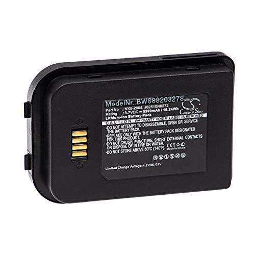 vhbw Batería recargable compatible con Bluebird Pidion BIP-6000 escáner códigos de barra, TPV (5200 mAh, 3,7 V, Li-Ion)