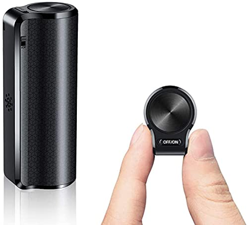 sZeao Mini Grabadora De Voz Magnética Mini Grabadora De Voz Espía con Activación por Voz, Grabadora Impermeable, Recargable, Un Botón para Grabar/Guardar,16GB