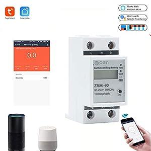 5 (60) A 50 Hz 60 Hz contador de corriente digital carril DIN WiFi Smart Energy metros en y bajo voltaje Protección de corriente RS485 Medidor de energía