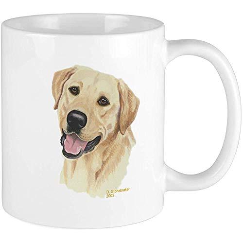 Gelbe Labrador Retriever-Tasse Einzigartige Kaffeetasse, Kaffeetasse