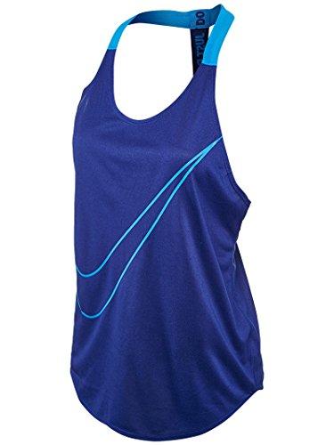 NIKE W Tank Elastika Grx Camiseta, Mujer, Multicolor (Deep Royal Blue/Lt Photo Blue), S