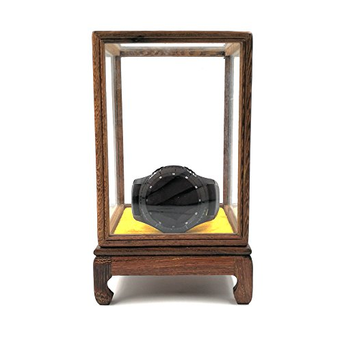 Watch Box Watch Display Box Wooden Glass Cover Display Vase Buddha Antique Artwork Old Items Glass Protection Cover (4.9 inch(H))
