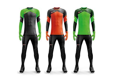 Alpas Torwartset (Torwarttrikot + Torwarthose) Dynamic / 3 Farben & alle Größen lieferbar orange/grau, Größe: XXXL = (Trikot XXXL/Hose XXXL)