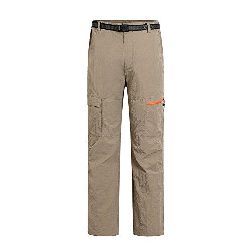 Baymate Homme Séchage Rapide Pantalon Trekking Outdoor Sport Camping Pants Kaki 3XL