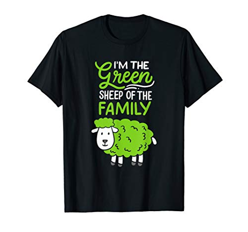 Schaf: I'm The Green Sheep Of The Family T-Shirt